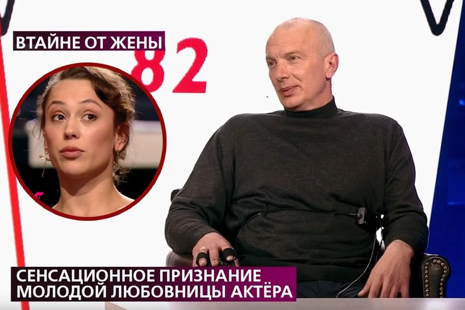 Известный актер вновь в центре скандала. Фото: скриншот эфира Первого канала