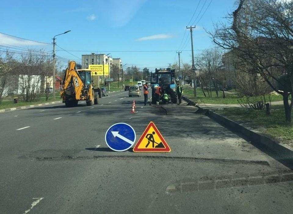 В Курске продолжается ямочный ремонт