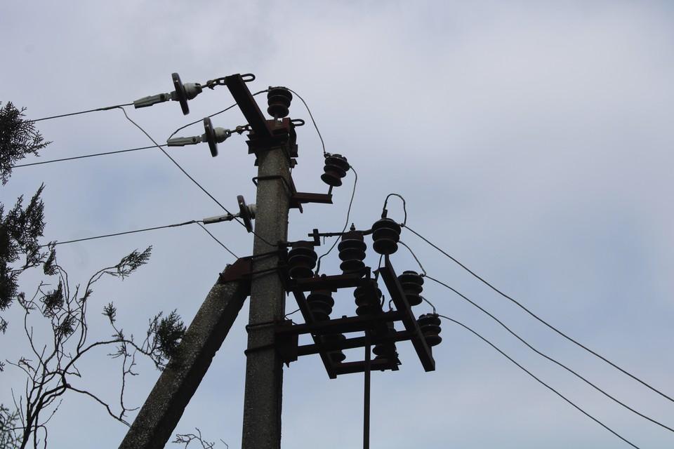 Идет ремонт электросетей.