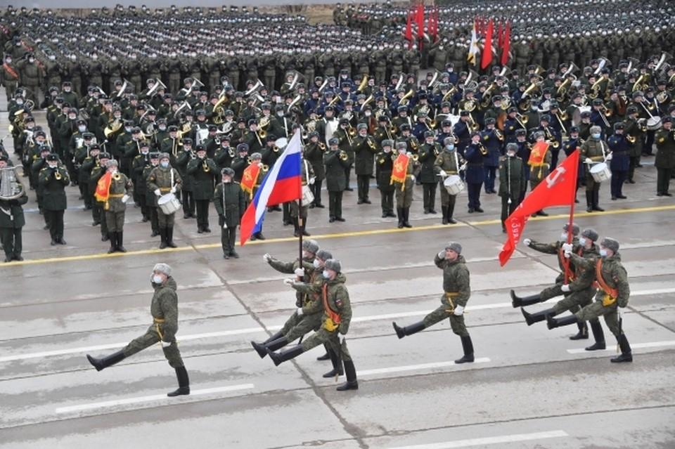 На Параде Победы 9 Мая