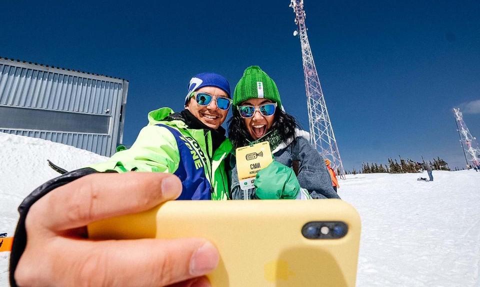 Москвичи и кузбассовцы больше других туристов пользовались мобильным интернетом в Шерегеше. Фото: пресс-служба МегаФон.