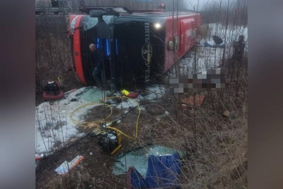 Авария случилась в 140 километрах от села Лидога. Фото: sovgavanrf