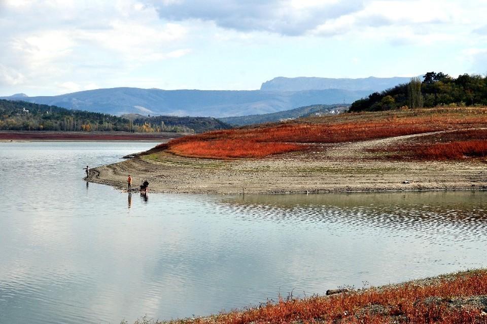 Симферопольское водохранилище.
