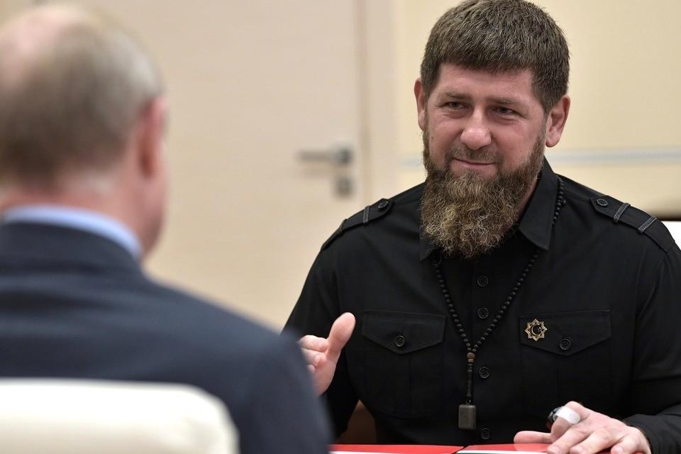 Рамзан Кадыров на встрече с Владимиром Путиным. Фото: kremlin.ru