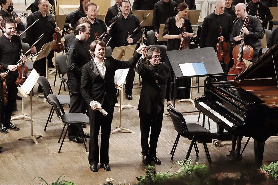 Юрий Башмет и французский пианист Дэвид Фрэ. Фото: Марина КОЗЛОВА