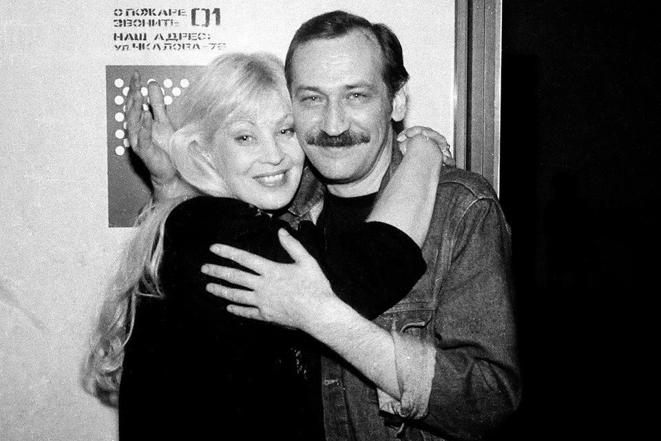 Актриса Нина Шацкая с мужем актером и писателем Леонидом Филатовым.