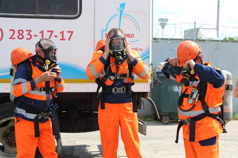 В Новочеркасске ликвидировали условную аварию в загазованном коллекторе Фото: правительство РО