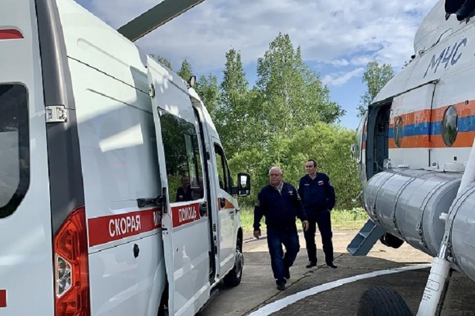 Новорожденного из ЕАО экстренно доставили в перинатальный центр Хабаровска. Фото: ГУ МЧС России по Еврейской автономной области.