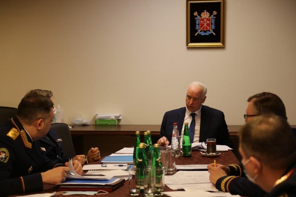 Председатель СКР Александр Бастрыкин провел оперативное совещание в Петербурге. Фото: пресс-служба ГСУ СК РФ