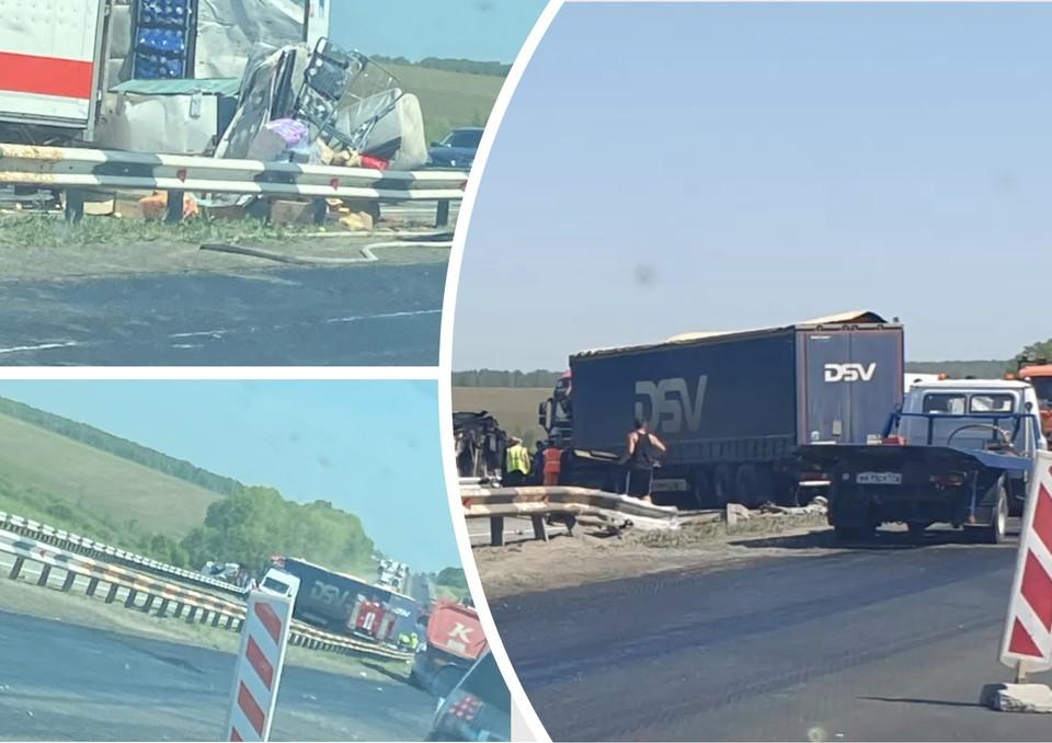 Один человек погиб, еще один пострадал. Фото: Трасса М5 Уфа - Челябинск / Vk.com