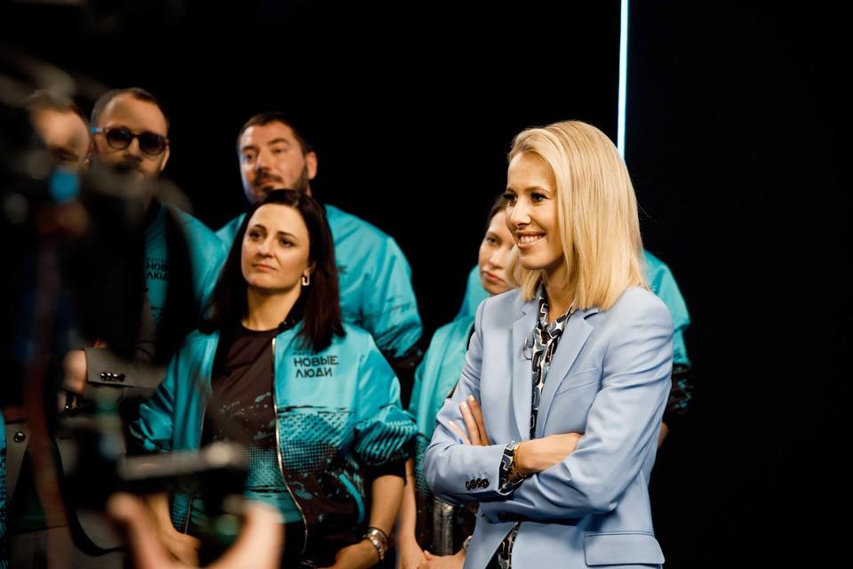 Специальный гость шоу Ксения Собчак. Фото предоставлено партией «Новые люди».