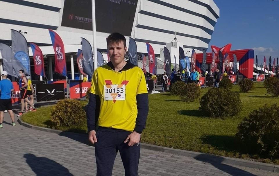Юрий Турков на старте марафона