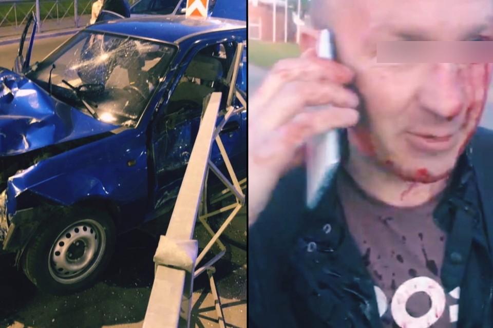 В Петербурге водитель иномарки гонялся от инспекторов ДПС и влетел в забор. Фото: vk.com/dorinspb