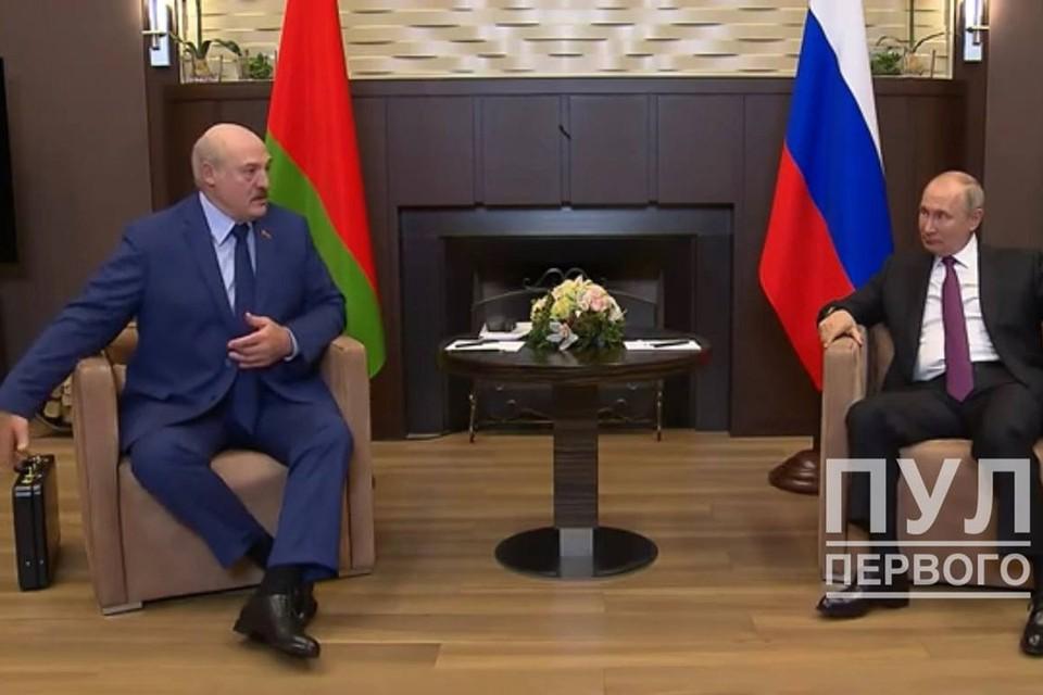 Встреча Лукашенко и Путина в Сочи. Фото: Telergram / Пул первого