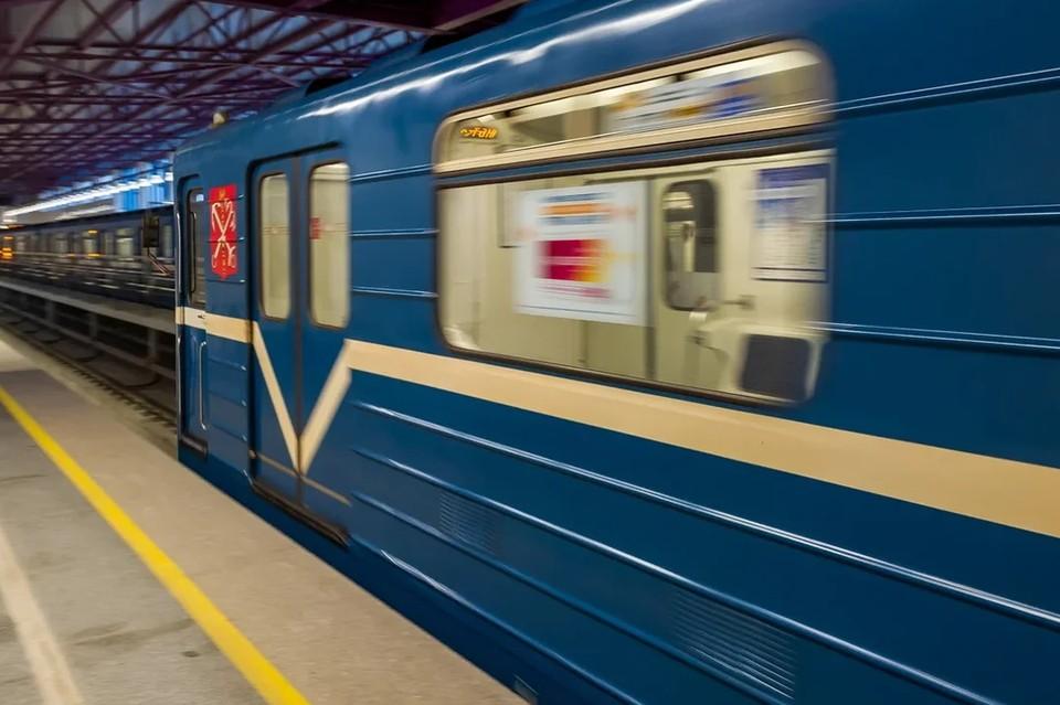 На синей ветке метро Петербурга произошел сбой в движении поездов.