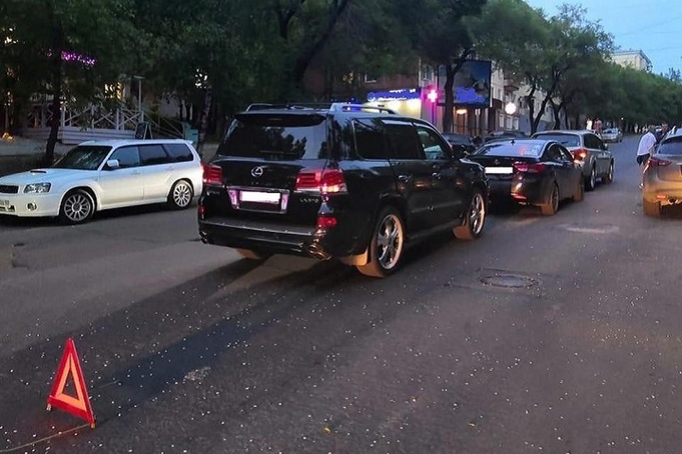 Элитный бутерброд: ДТП с тремя машинами произошло в Хабаровске
