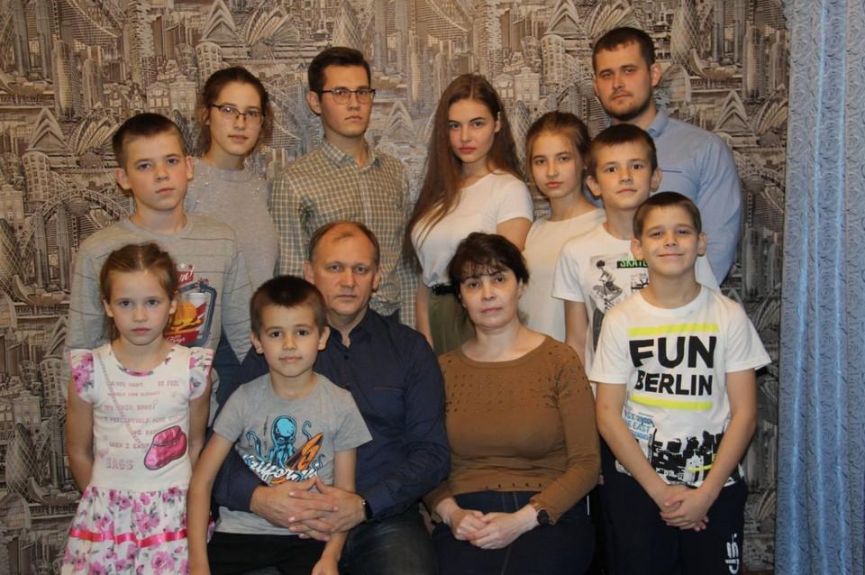 В многодетной семье растут семь мальчиков и четыре девочки. Фото: пресс-служба администрации губернатора Пермского края.