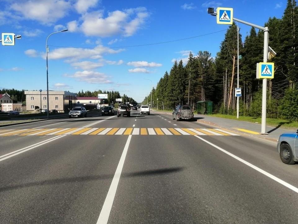 В Ханты-Мансийске водитель сбил девушку на пешеходном переходе Фото: ГИБДД России