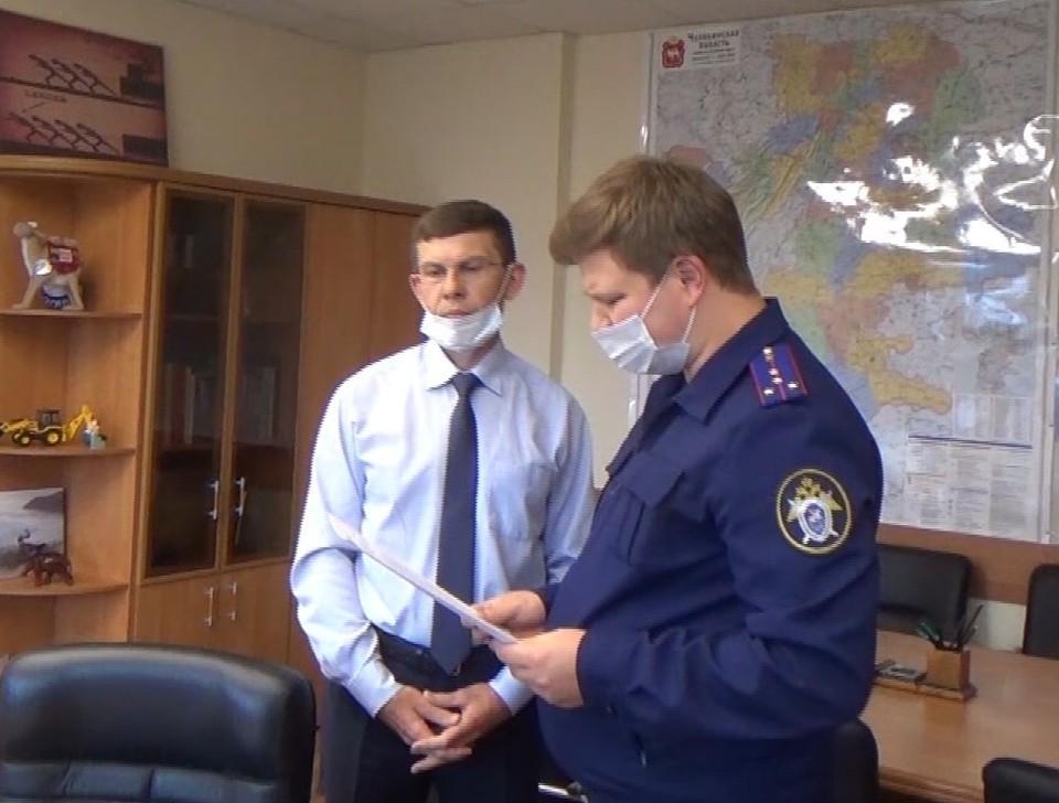 Ивана Белавкина взяли на рабочем месте. Фото: скрин с видео