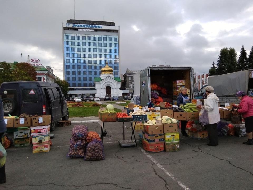 Ярмарка открывается на центральной площади Саратова