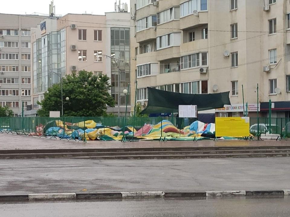 Батут на бульваре Мюфке начали убирать