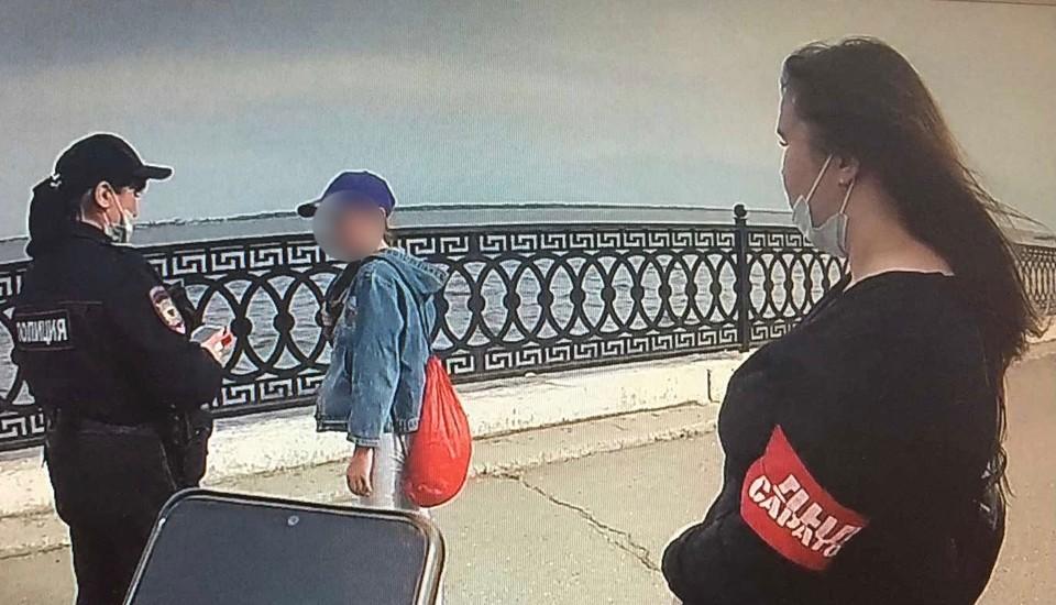 Дружинники нашли ребенка. Фото городского УМВД
