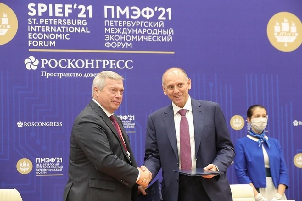 Соглашение подписали на экономфоруме в Санкт-Петербурге Фото: сайт правительства РО