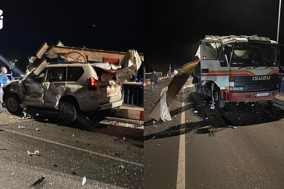 """Неудачный маневр закончился серьезным повреждением двух авто. Фото: предоставлено """"КП-Владивосток"""" очевидцами."""