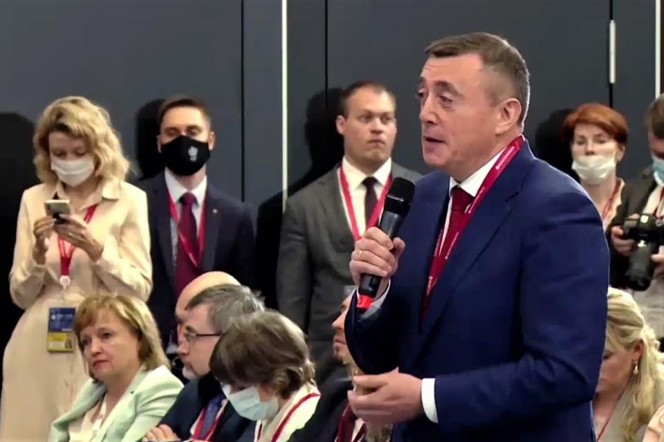 Губернатор Сахалинской области Валерий Лимаренко на Петербургском международном экономическом форуме