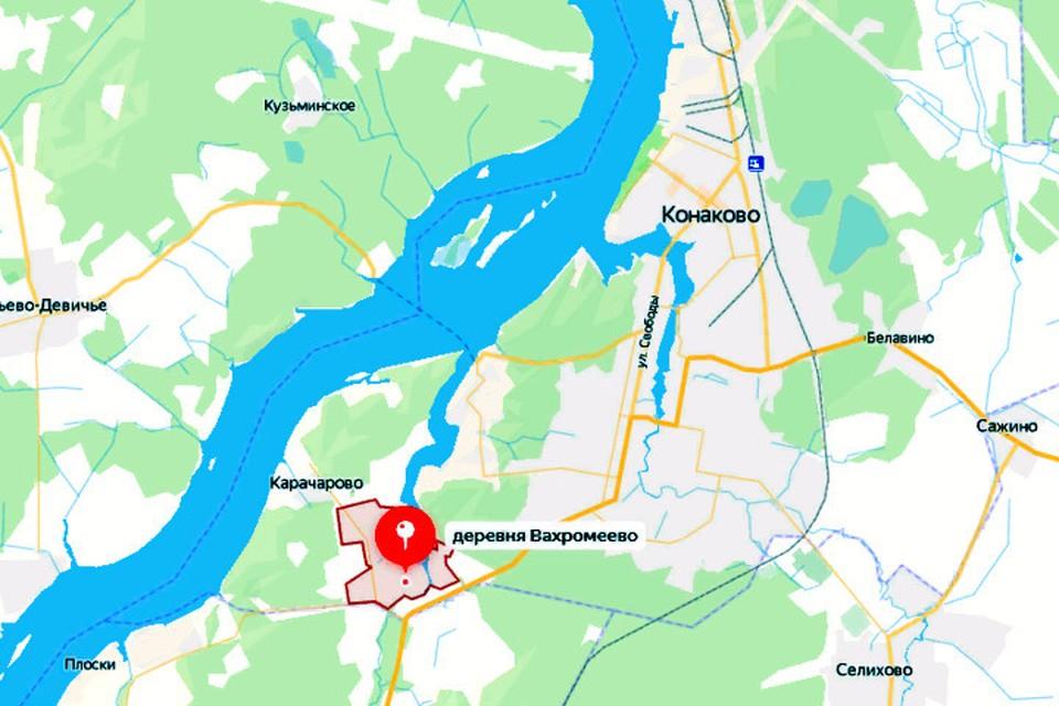 Стрельба случилась в деревне Вахромеево. Фото: yandex.ru/maps/