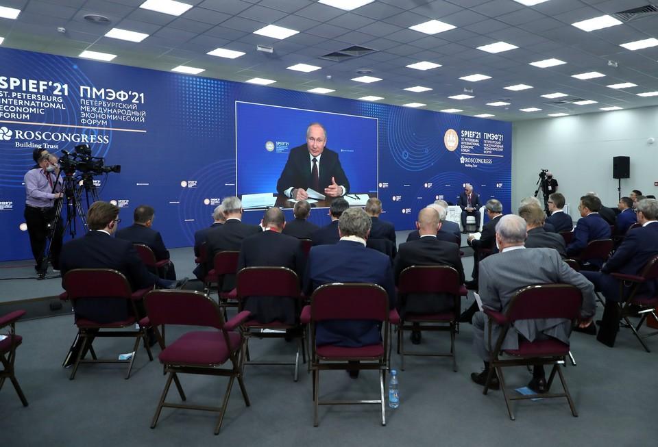 Закончился Петербургский международный экономический форум. Фото: forumspb2021.tassphoto.com
