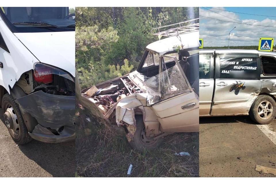 Два автомобиля столкнулись с ехавшей на вызов машиной скорой помощи в Братске