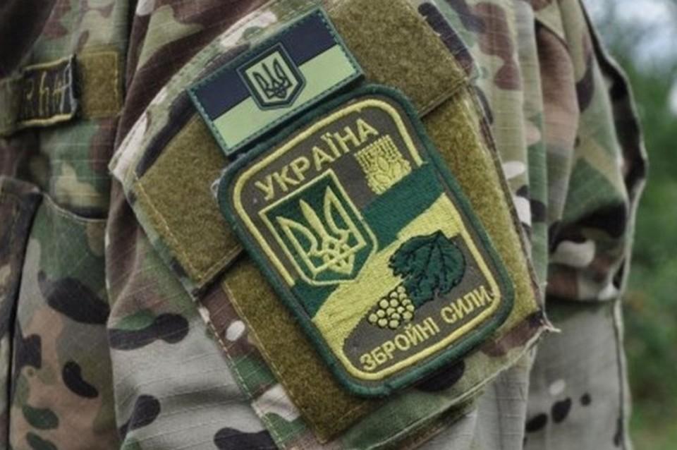 Украинские силовики «спрятали» бронетехнику вблизи города и села в ЛНР. Фото: штаб ООС