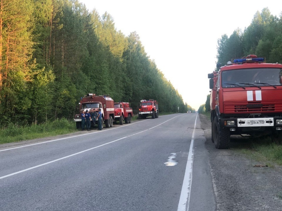 Пожарные на готове