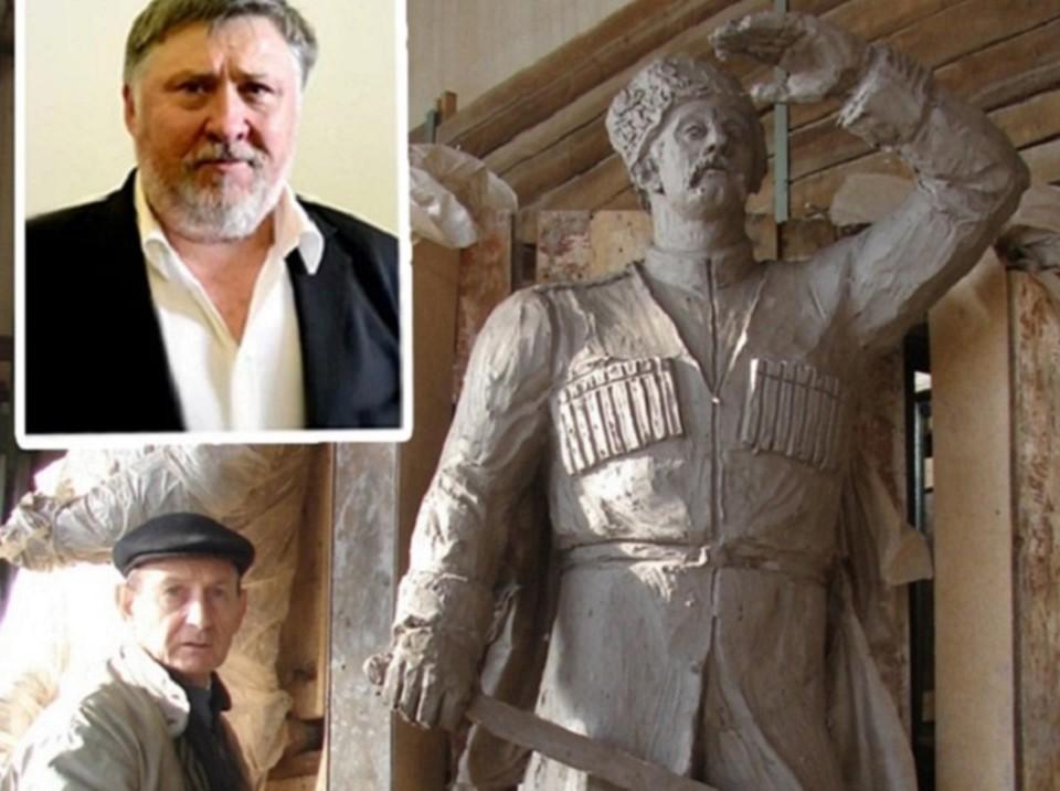 На фото два скульптора - Александр Аполлонов (выше) и Владимир Золотухин.