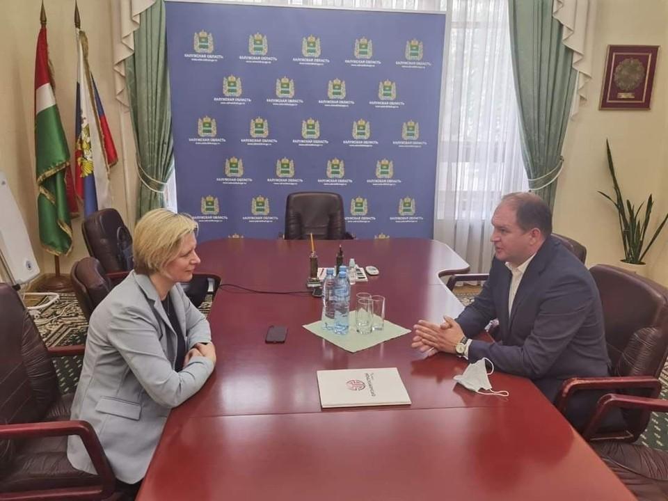 Мэр Кишинева Ион Чебан встретился с главой администрации города Обнинска Татьяной Николаевной Леоновой. Фото: t.me/ionceban