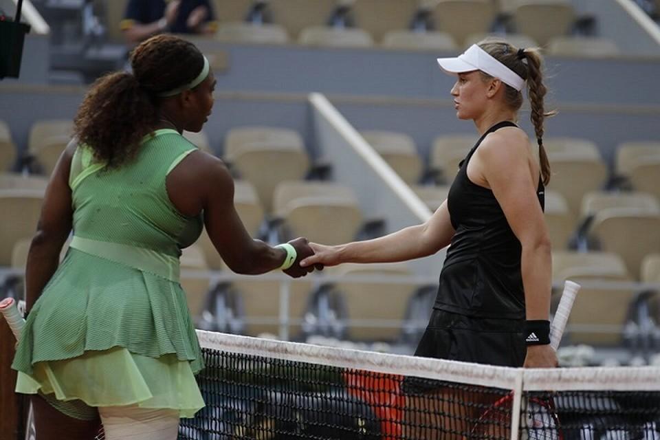 Это их первая встреча на теннисных кортах.