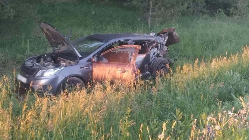 33-летний водитель не справился с управлением и перевернулся Фото: ГИБДД МВД по УР
