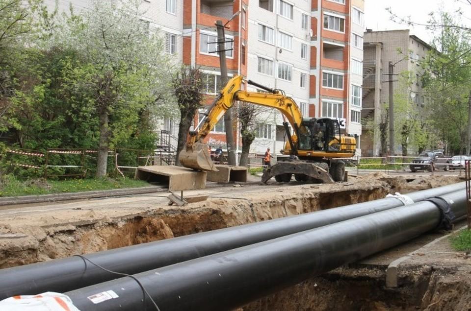 Инженерные сети меняют на улице Нормандии-Неман в Смоленске. Фото: администрация г. Смоленска.