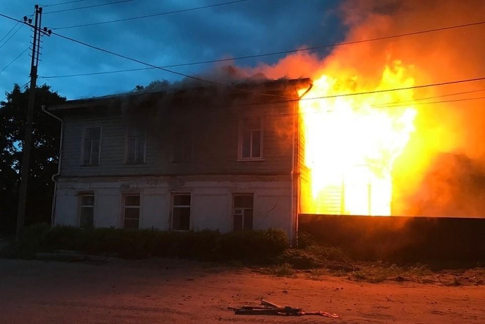 Историческое здание сильно пострадало от пожара