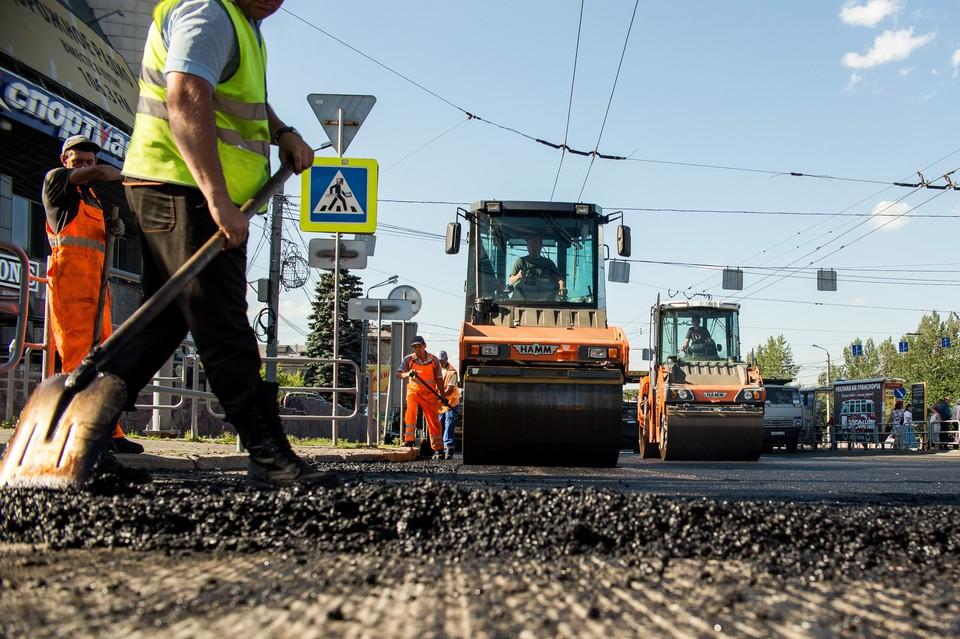 Ремонт дорог на некоторых участках идет с опережением графика.