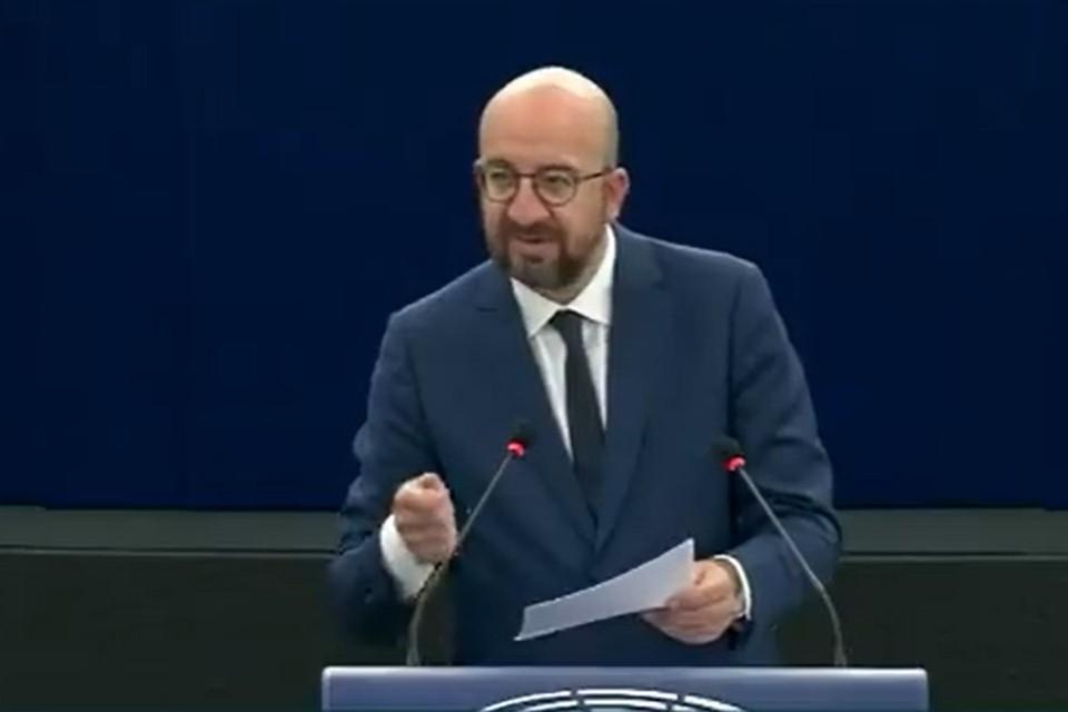 Председатель Европейского совета Шарль Мишель заявил, что ЕС будет воздействовать на Беларусь, пока Протасевич не окажется на свободе. Фото: скриншот видео