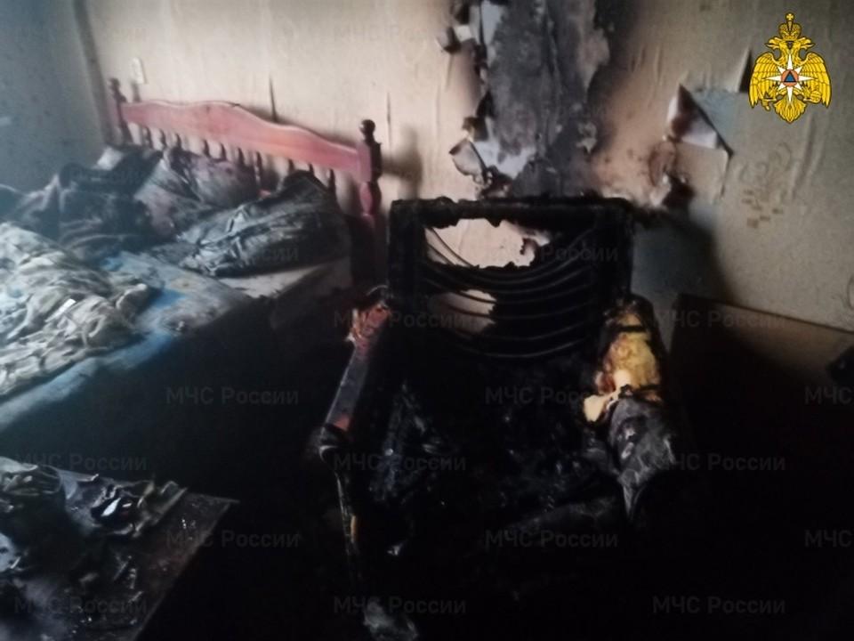 Сгорела мебель