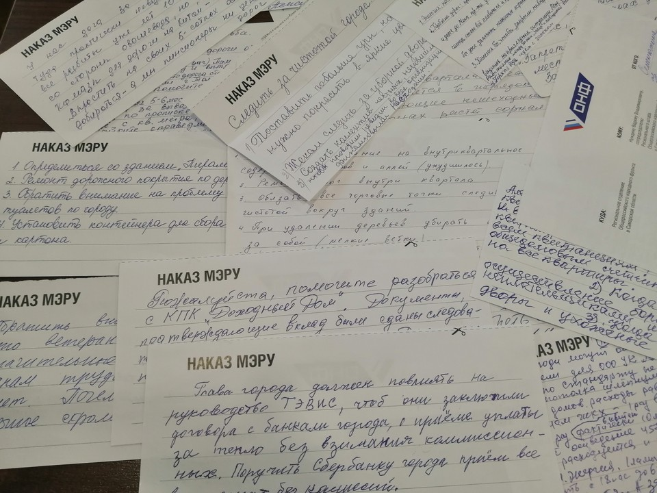 Жители Тольятти написали более 7,5 тысяч наказов новому мэру