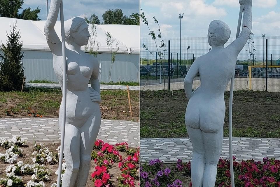 Ростовская статуя отдаленно напоминает известную скульптуру. Фото: Екатерина Попова.