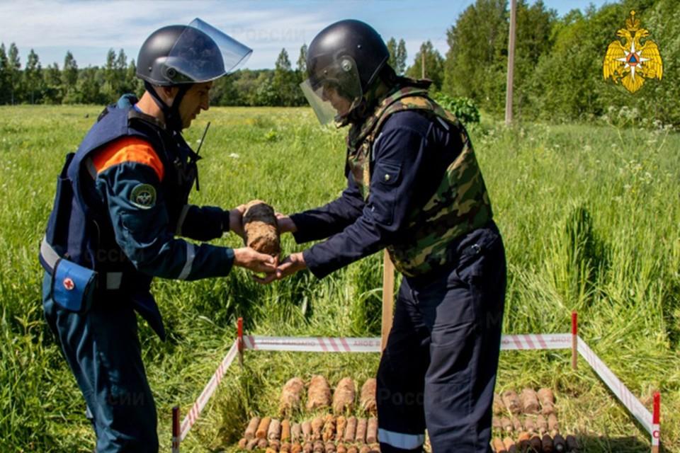 В Тверской области продолжают находить снаряды времен войны Фото: ГУ МЧС России по Тверской области