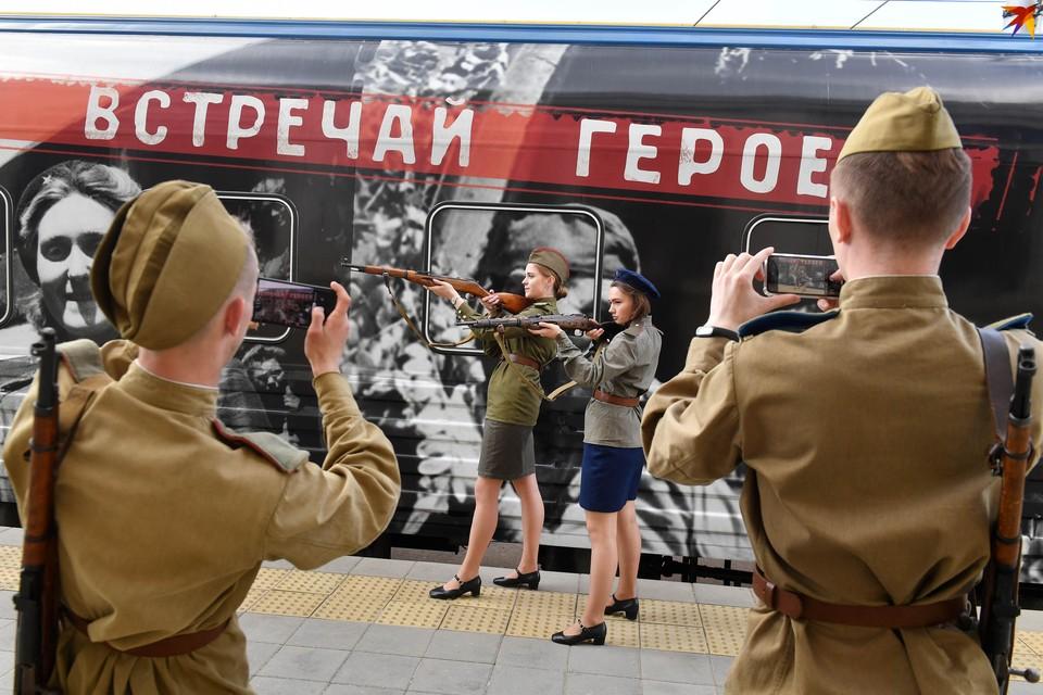 В Минске встретили «Поезд Победы»