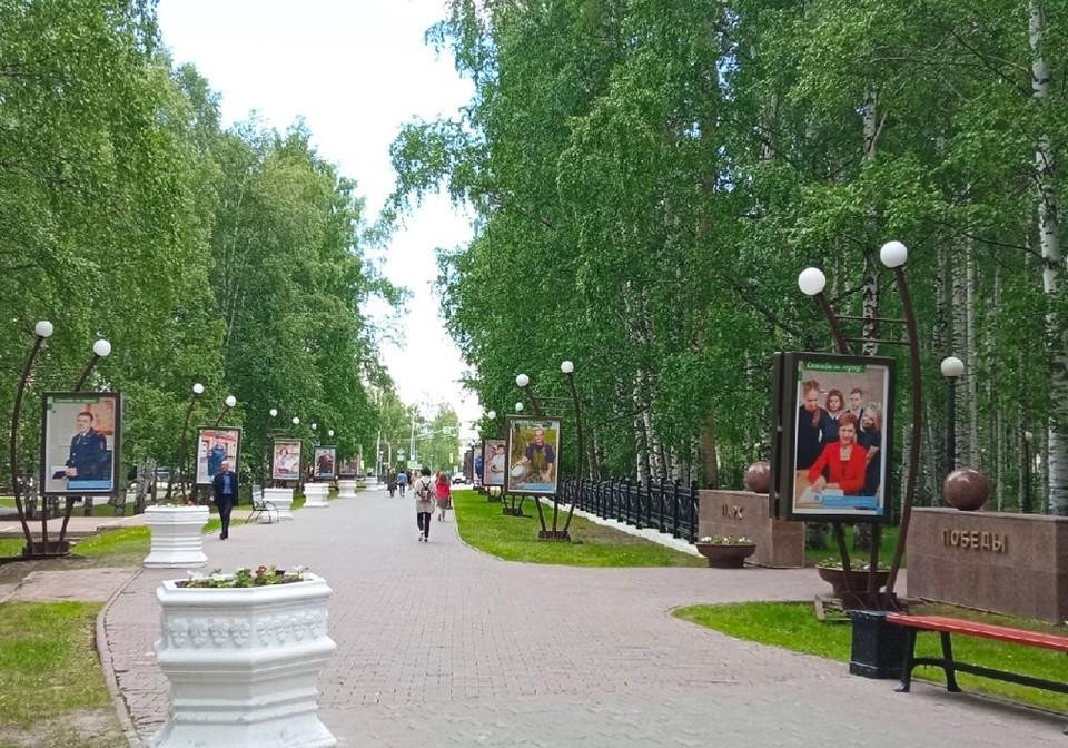 В центре Ханты-Мансийска появились лайтбоксы с лицами жителей города Фото: Официальная страница Администрации Ханты-Мансийска
