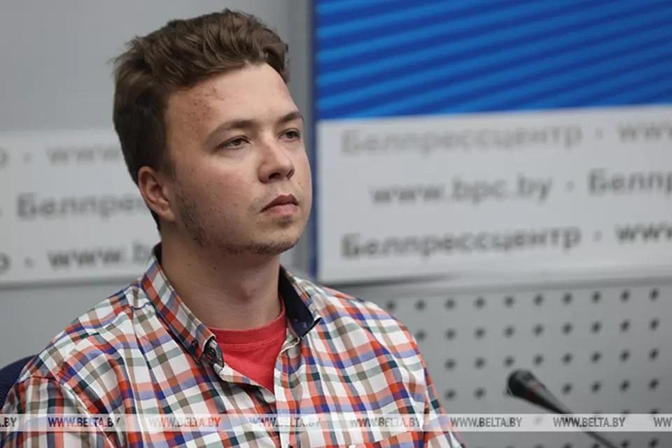 Генеральная прокуратура ЛНР заявила, что провела с задержанным в Минске белорусским блогером Романом Протасевичем следственные действия. Фото: БЕЛТА