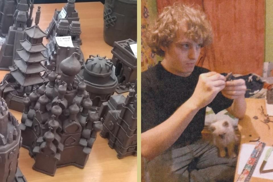 Алексей Русс увлекается моделированием из пластилина с раннего детства. Фото: www.mbstver.ru